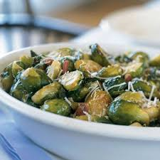 roasted brussels sprouts with ham and garlic recipe myrecipes