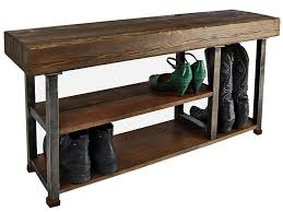 Oak Shoe Storage Cabinet Hall Shoe Storage Bench Farmhouse Entry Rustic Bench Rustic Hall