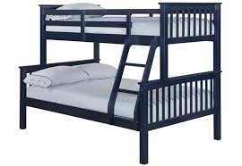 LPD Otto Trio Navy Blue Wooden Bunk Bed Bedworld At Bedworld - Navy bunk beds