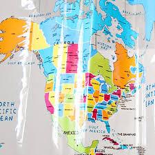 Shower Curtain Amazon World Map Shower Curtain