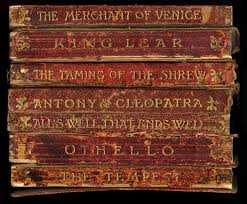 shakespeare antique book spines framed unique wall art made in