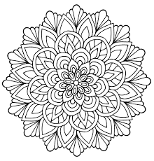 mandala flower with leaves mandalas coloring pages for adults