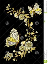 flowers with butterfly necklace images Embroidery ethnic flowers and butterfly line design fashion jpg