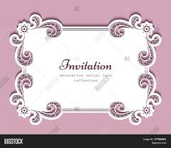 Borders For Wedding Invitation Cards Rectangle Frame With Cutout Paper Lace Border Suitable For Laser