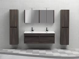 White Wall Bathroom Cabinet Wall Mounted Double Vanity Fpudining