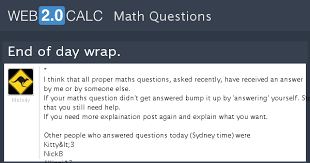 rapid tables grade calculator view question end of day wrap