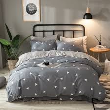 geometric pattern bedding cotton flannel bedding set gray geometric pattern duvet cover solid