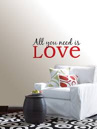 all you is love quote wall art sticker