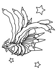 pokemon giratina coloring page coloring home