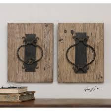 uttermost 07654 rustic door knockers decorative wall art in rustic