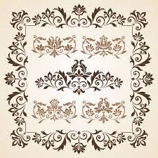 vintage design set of brown vintage design element vector clipart image 28755