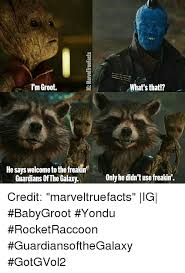 Guardians Of The Galaxy Memes - i m groot he says welcome to the freakin guardians of the galaxy