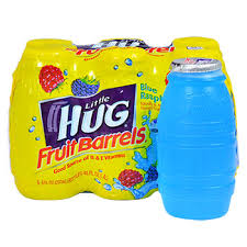huggie drink bulk hug blue raspberry juice barrels 6 ct packs at