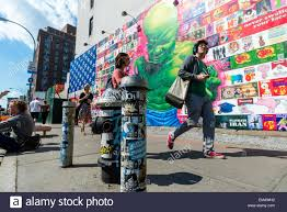 bowery mural wall stock photos bowery mural wall stock images new york usa 18 april 2016 bowery mural featuring street artist ron english with