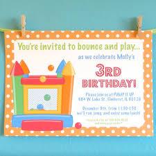 bouncy house invitations birthday invitation