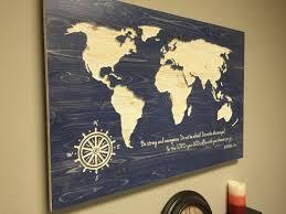 Beautiful Inspiration World Map Wood Wall Art Simple Decoration