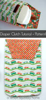 diaper clutch free sewing pattern tutorial craft sewing