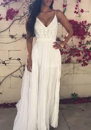 white maxi dress white crochet lace condole belt backless splicing draped v neck
