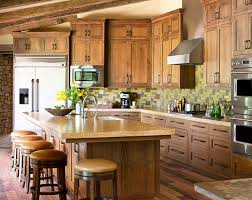 raw character kitchens with natural wood cabinets