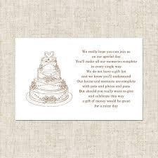 gift cards for wedding gift card poem for bridal shower wedding cake gift poem card