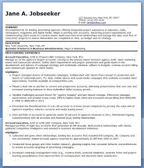 Executive Resume Format Template Download Advertising Executive Sample Resume