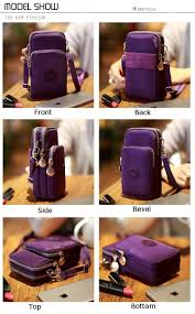 Waterproof Cushion Storage Bag by Three Layer Storage Zipper Waterproof Shoulder Bag Wrist Bag For