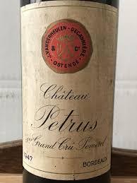 learn about petrus pomerol bordeaux 1947 château petrus pomerol belgian bottling der meulen 1
