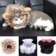 Kitten Costumes Halloween Small Pet Dog Cat Costumes Cosplay Lion Wigs Mane Hair Cute Funny