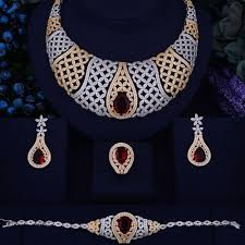 zirconia necklace set images Divine luxury crown cubic zirconia jewelry set celebrate beauty jpg