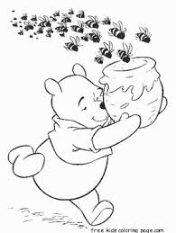 winnie the pooh honey bees cereal coloring page for kidsfree