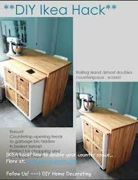 movable kitchen island ikea a great ikea hack a hidden rolling island from an expedit