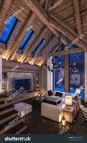 Cozy Livingroom 3d Rendering Cozy Living Room On Stock Illustration 524172652