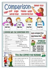 81 free esl comparison comparative adjectives and structures