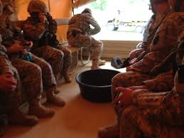 in back of an lmtv army truck after four wars