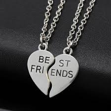friendship heart online shop friendship heart necklace plated sliver