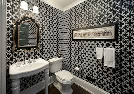 powder rooms with wallpaper always on trend 20 powder rooms in black and white