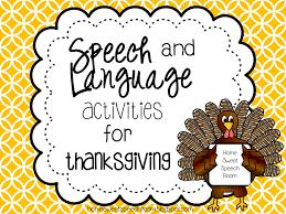 live speech speech and language activities for thanksgiving