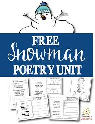 thanksgiving poems for kindergarten free printable snowman poem unit and literacy center