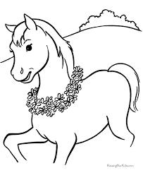 horses color print coloring