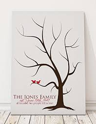 tree guest book thumbprint tree guest book alternative canvas for