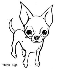 coloring pages chihuahua puppies chihuahua dog think big coloring pages netart