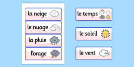 draw the weather worksheet french france nature science