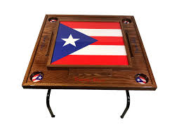 amazon com puerto rico domino table with the full flag red