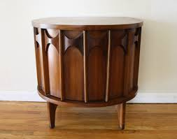 record cabinet picked vintage kent coffey perspecta demilune table 1