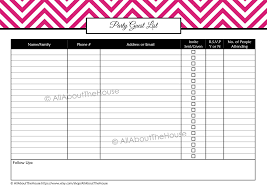 party guest list sample invoice with gst fee receipt format