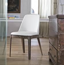 chaise cuir blanc chaise simili cuir blanc design bontempi casa sur cdc design