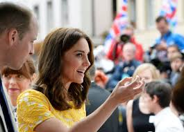 kate middleton during a tour of a traditional german market in the
