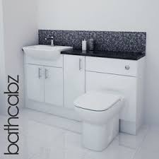 Fitted Bathroom Furniture White Gloss White Gloss Bathroom Fitted Furniture 1500mm Ebay