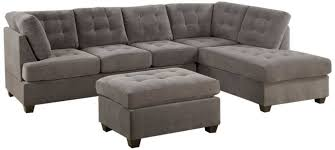 Grey Sofa With Chaise Sofa Grey L Sofa Grey Leather Chaise Sofa Gray Sectional Gray