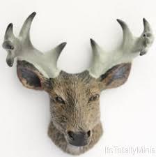 dollhouse miniature deer head with antlers trophy 1 12 scale ebay